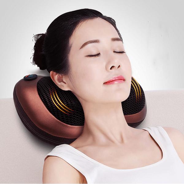 Gối massage hồng ngoại Magic 8 bi